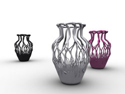 树根瓷花瓶